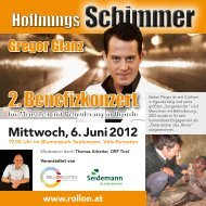 2. Benefizkonzert - Selbsthilfe Tirol