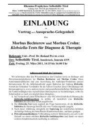 Rheuma-Prophylaxe Selbsthilfe Tirol