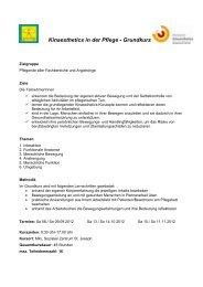 Kinaesthetics in der Pflege Grundkurs - Selbsthilfe Tirol