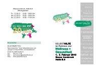 Wellness Broschüre inkl. 20 Jahre - Selbsthilfe Tirol