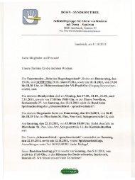 DOWN - SYNDROM TIROL Selbsthilfegruppe für ... - Selbsthilfe Tirol
