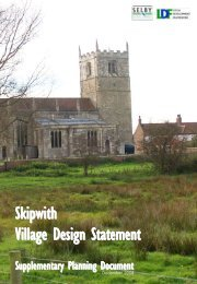 Skipwith Village Design Statement - Selby District Council