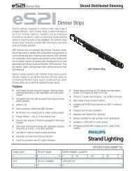 S21 Dimmer Strips - Selecon