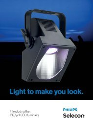 PLCYC1 LED 4-page Product Brochure - Selecon