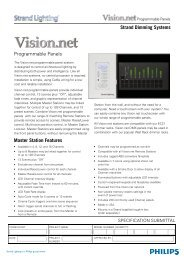 Master Station Features Strand Dimming Systems ... - Selecon