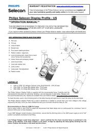 120V TH/CDM Models - Selecon