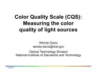 Color Quality Scale (CQS): Measuring the color ... - Selecon