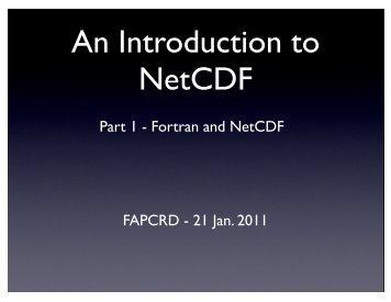 NetCDF and fortran