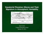 Equatorial Planetary Waves and Their Signature in Atmospheric ...