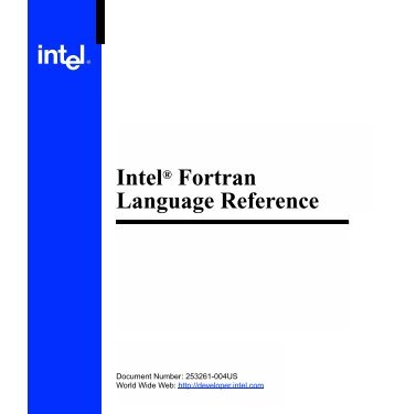 Intel(R) Fortran Language Reference (online version)