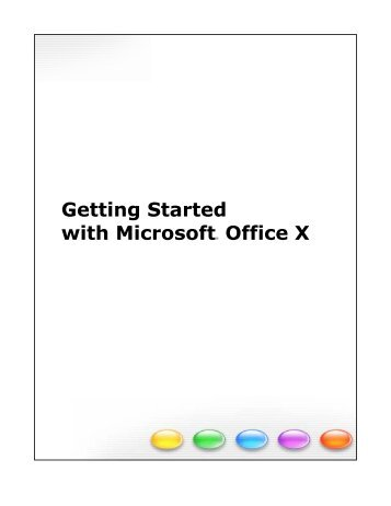 Getting Started with Microsoft Office X