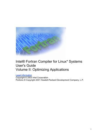 Intel® Fortran Compiler for Linux* Systems User's Guide Volume II ...
