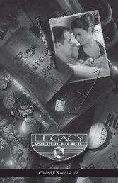 2013 Legacy Owner's Manual - Master Spas