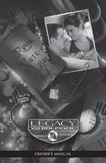 2010 Legacy Whirlpool Owner's Manual (pdf) - Master Spas