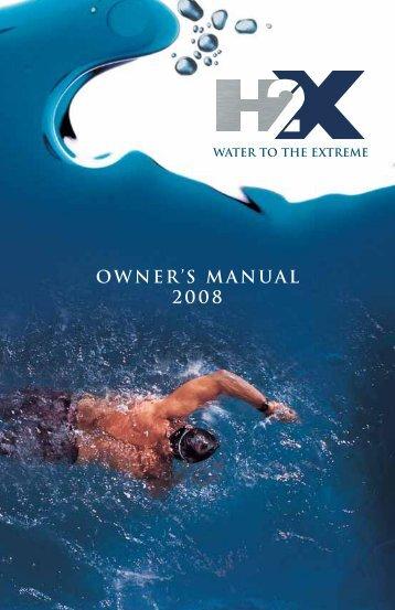 2008 H2X Swim Spa Owner's Manual - Master Spas