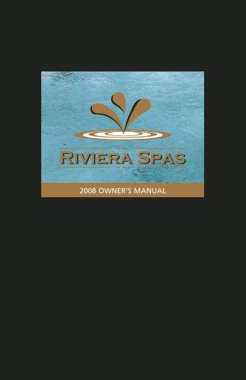 2008 OWNER'S MANUAL - Master Spas