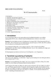 AE WiFi Radio Manual Dansk Sv