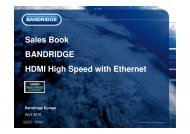 Sales Book BANDRIDGE HDMI High Speed with Ethernet