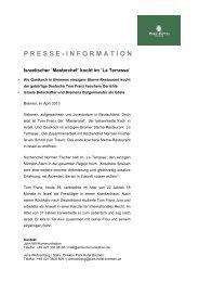 presse - information - Aktuelles aus den Hotels der Selektion ...
