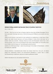 Pressemitteilung - Aktuelles aus den Hotels der Selektion Deutscher ...