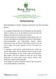 Pressemitteilung Bester Barkeeper im Norden - Aktuelles aus den ...