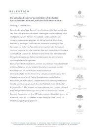 Download Pressemitteilung - Aktuelles aus den Hotels der Selektion ...