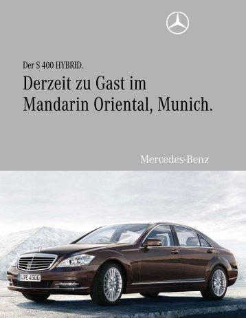 Derzeit zu Gast im Mandarin Oriental, Munich. - Aktuelles aus den ...