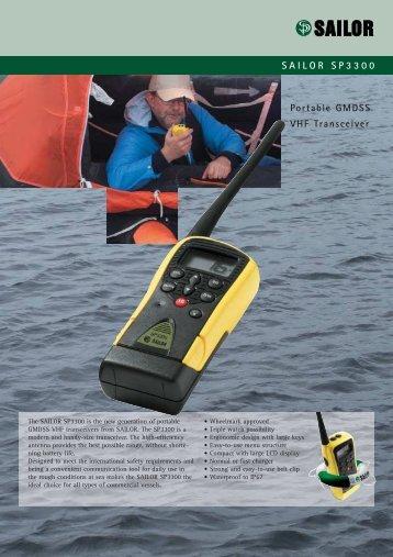 SAILOR SP3300 Portable GMDSS VHF Transceiver