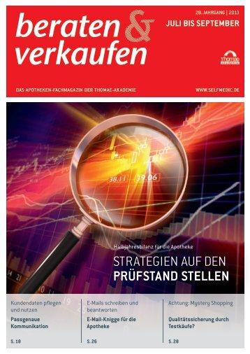 StrAtEgiEn Auf dEn PRüfSTAnd STELLEn - Home selfmedic.de