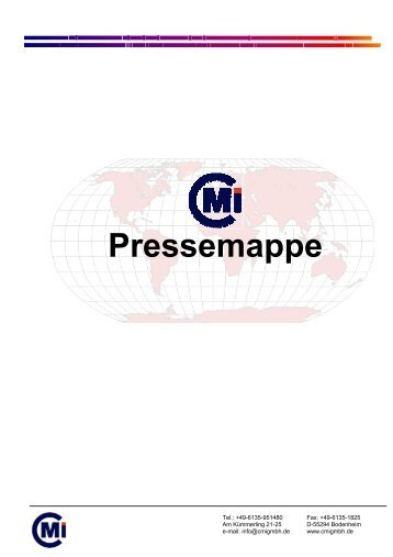 Pressemappe - CMI - Consulting Management Institute GmbH