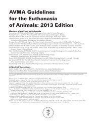 American Veterinary Medical Association Guidelines on Euthanasia