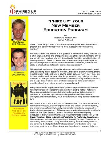 """""""Phire Up"""" Your New Member Education Program - Phired Up ..."""