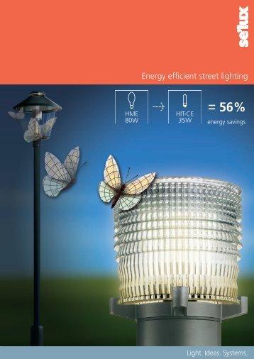 Energy efficient street lighting - Selux