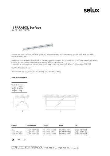 i | PARABOL Surface - Selux