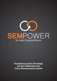 Projektierung einer PV-Anlage auf dem Hallendach ... - sem-power.de
