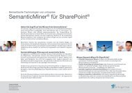 SemanticMiner für SharePoint - ontoprise GmbH