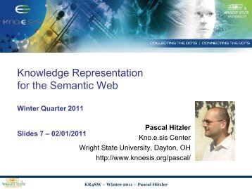 03:28, 26 January 2011 - Foundations of Semantic Web Technologies
