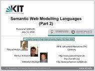 Part II: OWL - Foundations of Semantic Web Technologies