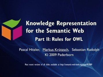 Rules for OWL - Foundations of Semantic Web Technologies