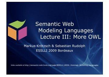 16:29, 21 July 2009 - Foundations of Semantic Web Technologies