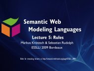 Lecture 5 - Foundations of Semantic Web Technologies