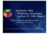 Lecture 2: Web Ontology Language OWL - Foundations of Semantic ...