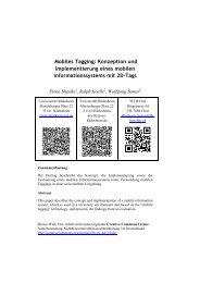 Mobiles Tagging: Konzeption und Implementierung eines mobilen ...