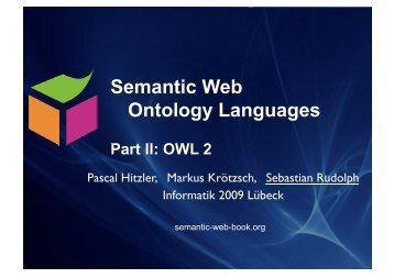 OWL (2) - Foundations of Semantic Web Technologies