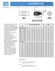 EXTRUDE-TITE® Fasteners