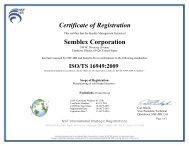 TS 16949 - Semblex Corporation