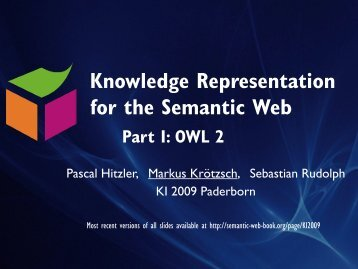 Introduction to OWL 2 - Foundations of Semantic Web Technologies