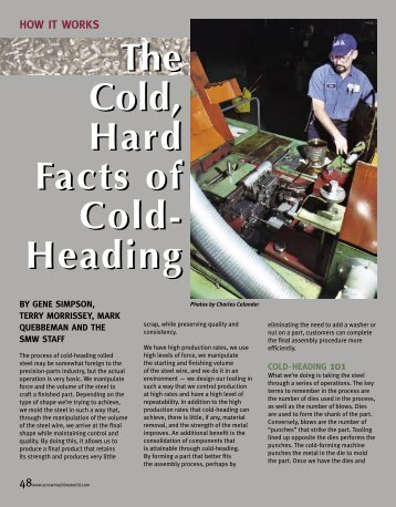 The Cold, Hard Facts of Cold- Heading