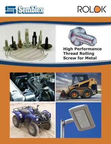 Thread rolling engineering standards - Semblex Corporation