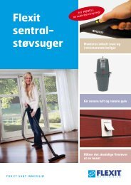 Sentralstøvsuger - 2012 - Flexit - Sem Bruk AS